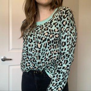 Victoria's Secret PINK Cheetah Knit Sweater